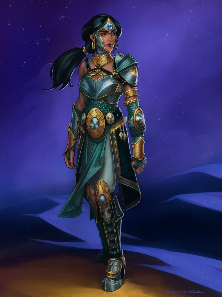 Zach's armoured Princess Jasmine design for Sinfonie Cosplay