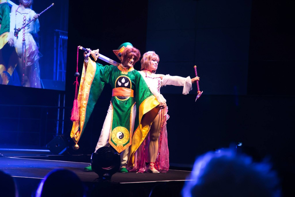 Tsubaki and Asham Cosplay on stage, photo from Cat Fase
