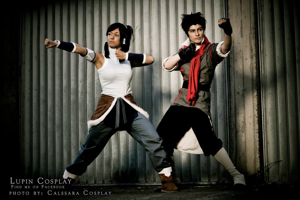 Lupin Cosplay as Mako, Aigue-Marine Cosplay as Korra, Photo taken by Calssara