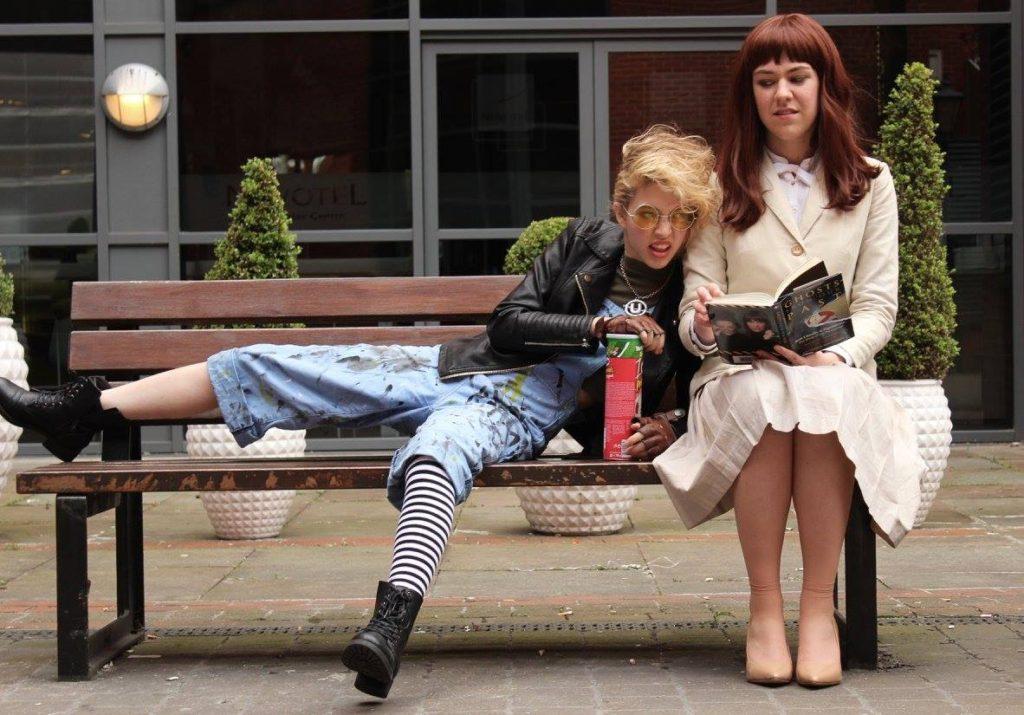 Erin Gilbert - Hildaglitz Cosplay, Jillian Holtzmann - Seamripper Cosplay, Photo by Jack Esuk